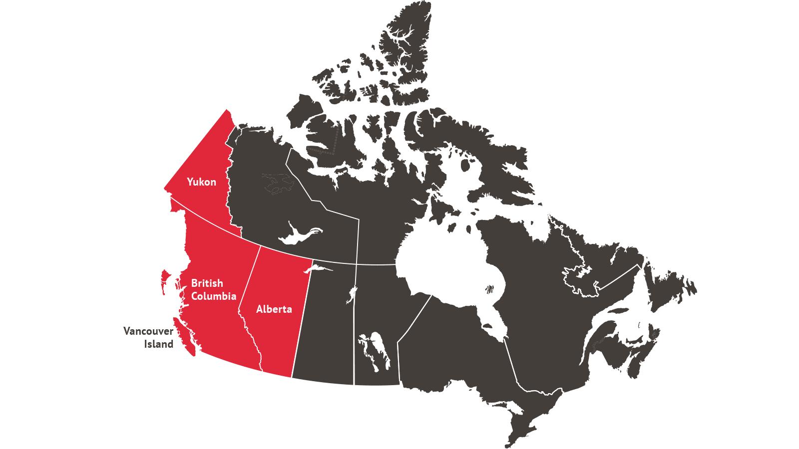 Regions in Western Canada where TerraCana operates