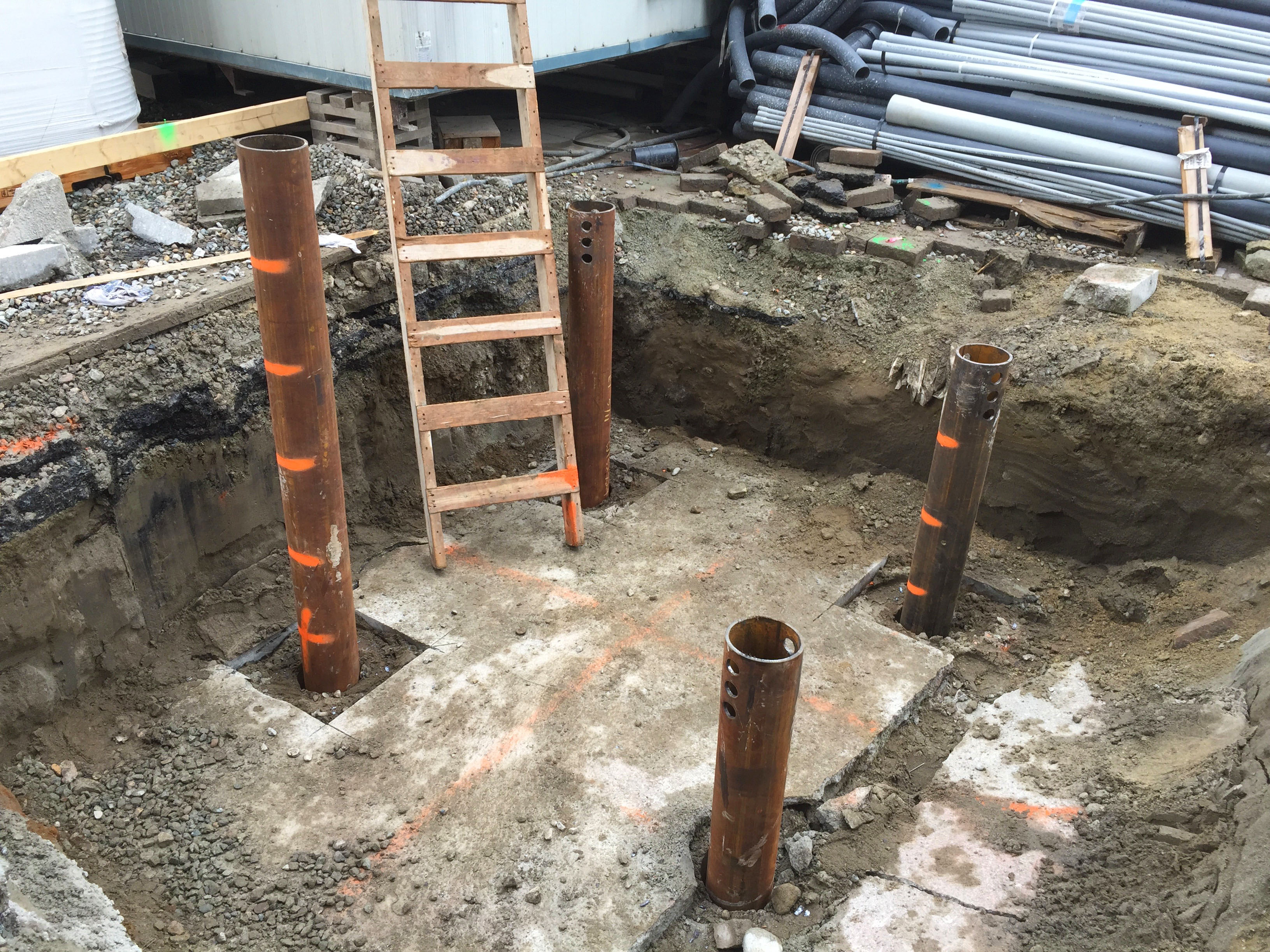 Pipe piles provide a strong foundation