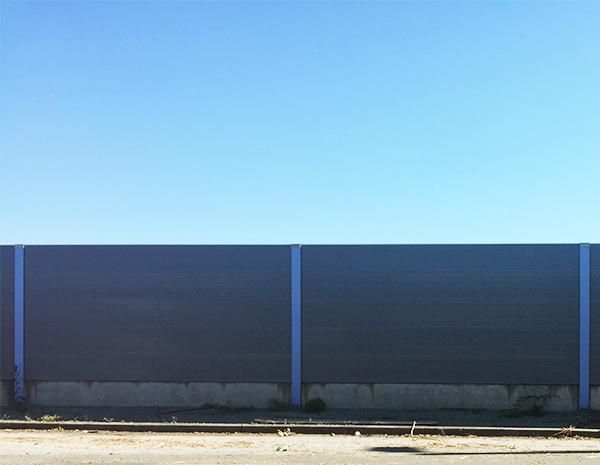 Final wall built on glacial till
